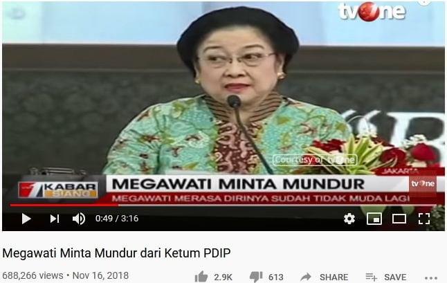 Breaking News TV One Megawati Soekarnoputri