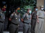 Gubernur DKI Jakarta Anis Baswedan Pimpin Apel untuk Penanganan Covid-19