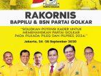 Rakornis Bapilu dan BSNPG Partai Golkar