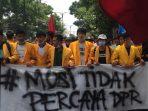Aksi Mahasiswa Cianjur tolah UU Cipta Kerja