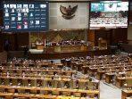 Suasana Sidang Paripurna UU Cipta Kerja