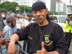 Zaini, Warga Banten ikuti Demo Tolak UU Cipta Kerja
