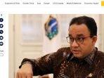 Pemberitaan Anies Baswedan Positif Covid19 tembus media asing