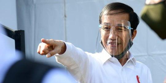 Jokowi pakai pelindung wajah