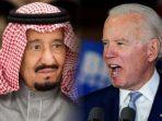 Kolase Raja Salman dan Presiden AS Joe Biden