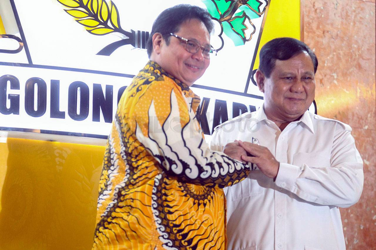 Airlangga Hartarto dan Prabowo Subianto