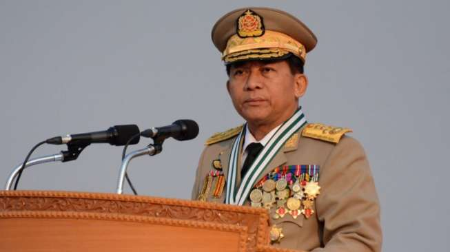Jenderal senior Myanmar Min Aung Hlaing Afp