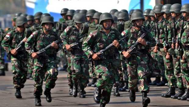 Ilustrasi barisan TNI