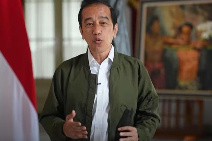 Tangkapan layar pidato presiden Joko Widodo - yotube-kementrianperdagangan