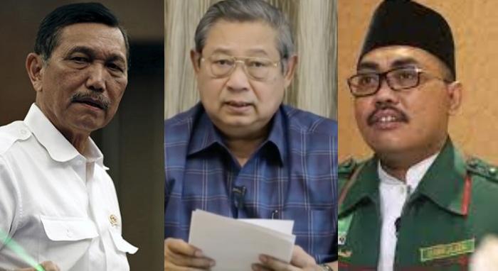 kolase Luhut Binsar Panjaitan, SBY, dan Jazilul Fawaid