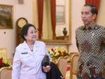 Ketua Umum PDIP Megawati dan Presiden RI Joko WIdodo